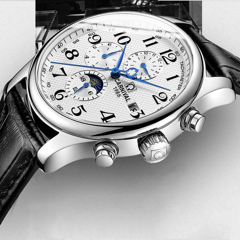 2019 Top Brand Luxury Mens Watches Mechanical Leather Shock Resistant Self-winding Man Automatic Watch Relogio Masculino