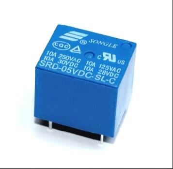 Envío gratis 10 Uds SRD-05VDC-SL-C 5VDC 10A relé de potencia PCB tipo de T73-5V 5 pies SRD-05VDC-SL-C nuevo y original