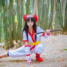 Roi de gloire LOL SNK samouraï esprits Nako Ruru Kimono jeu Cosplay déguisement/noir Cosplay perruque