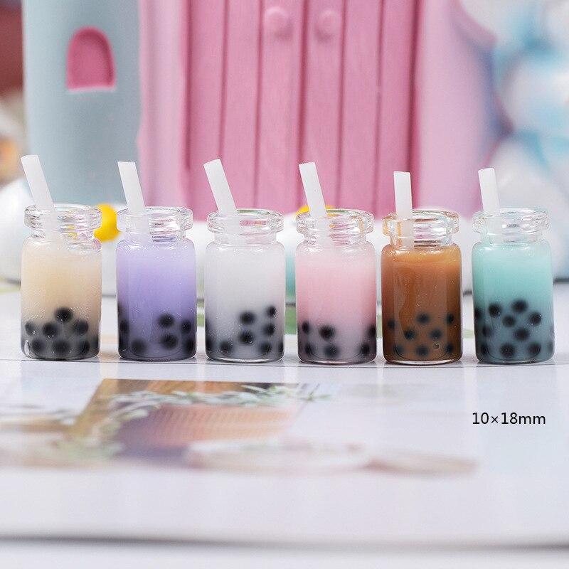 4 Uds taza de café o té botella de bebida polímero Slime Charms arcilla de modelado DIY Kit Accesorios caja de juguete para niños suministros de masa viscosa