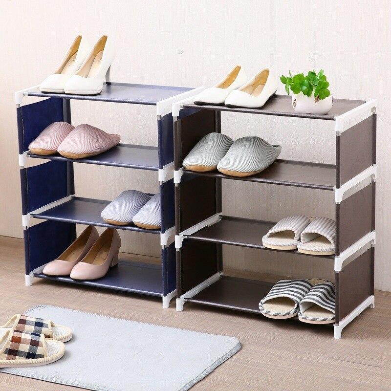 Organizador de Zapatero de 3 capas, estante de pie multifunción, estantes sólidos, habitación moderna, 4 capas, Zapatero, almacenamiento de dormitorio