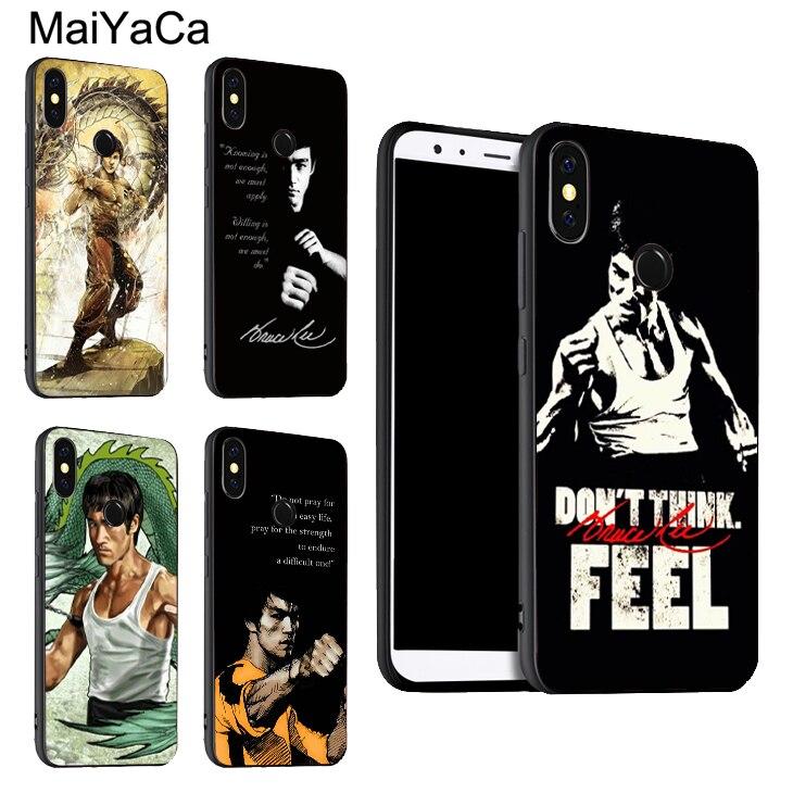 MaiYaCa Bruce Lee película Kung Fu Star caso para Xiaomi rojo mi nota 8 Pro 7 7A 6 6A 5 Plus 5A K20 4X mi A2 Lite A1 9 SE 9T Pro