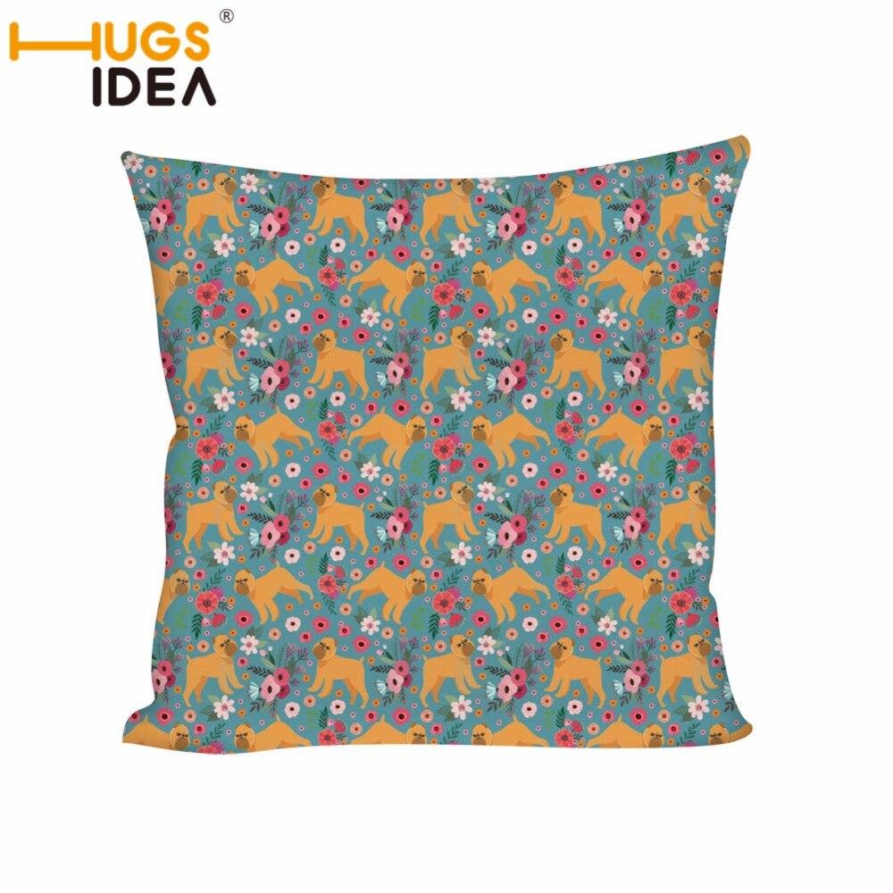 Чехол для подушки HUGSIDEA, квадратный чехол для подушки с рисунком собаки, парика, сидения на диване или стуле, чехол для подушки для автомобиля