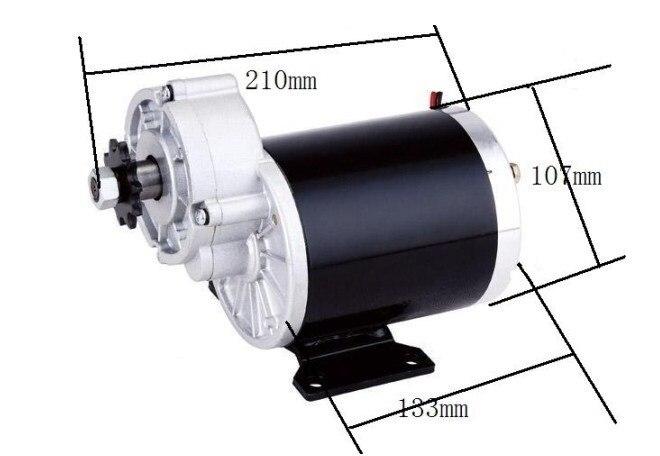 600w 36 v 48v motor da engrenagem triciclo eletrico do motor da escova motor escovado