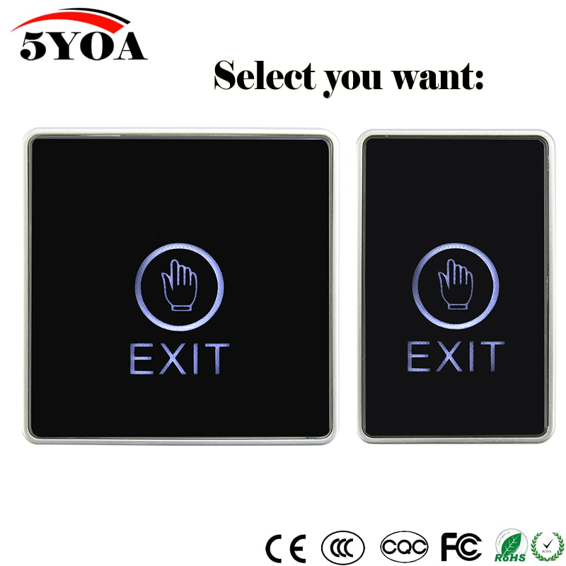 Кнопочный выключатель Eixt для системы контроля доступа, сенсорная кнопка для домашней безопасности