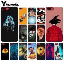 Yinuoda de Dragon Ball Z Super DBZ Goku de Coque Shell funda para iPhone x XS MAX 6 6S 7 7plus 8 8Plus 5 5S XR