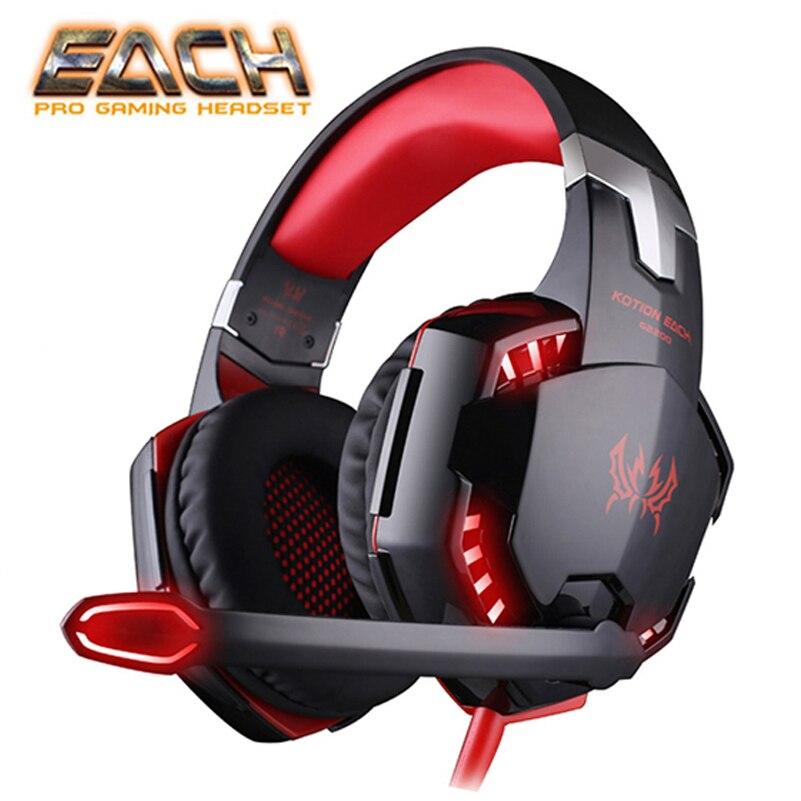 KOTION כל רטט אוזניות USB 7.1 צליל היקפי 3.5MM aux סטריאו משחקי אוזניות אוזניות אורות למשחקי מחשב