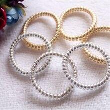 Bandeau en caoutchouc élastique pour filles   5 pièces/lot, accessoires de cheveux pour filles, couvre-chef, corde à cheveux en forme de spirale, fils de téléphone en gomme