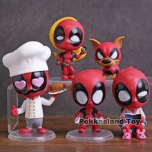 Hot Toys Cosbaby Marvel Deadpool 2 Chef Lounging Lady Deadpool Dogpool Kidpool Headpool PVC Action Figure Toy 6 Types