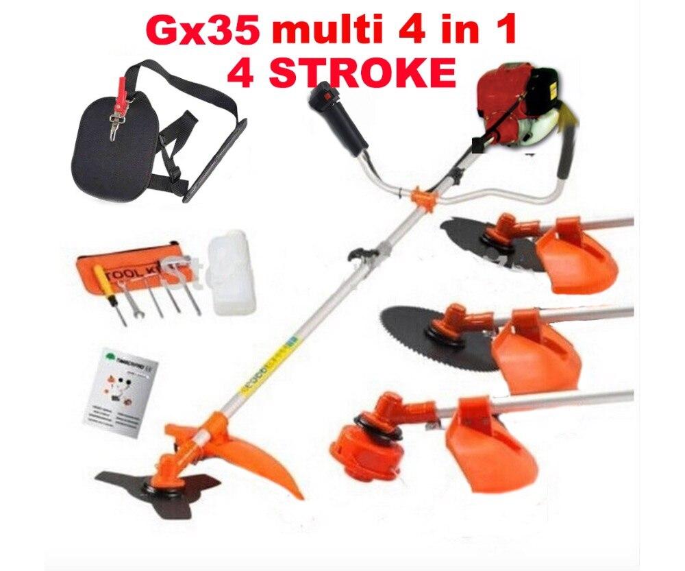 4 tiempos GX35 motor 5 en 1 gasolina cortasetos motosierra recortadora cepillo cortador extender herramienta de jardín