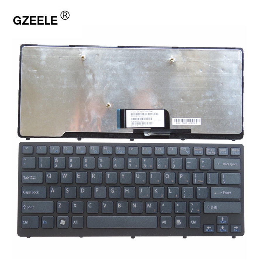 Nuevo teclado GZEELE para ordenador portátil Sony Vaio VPC-CW VPC CW VPCCW CW16EC CW18FC CW26EC CW28EC CW2S3C CW2S6C marco negro inglés