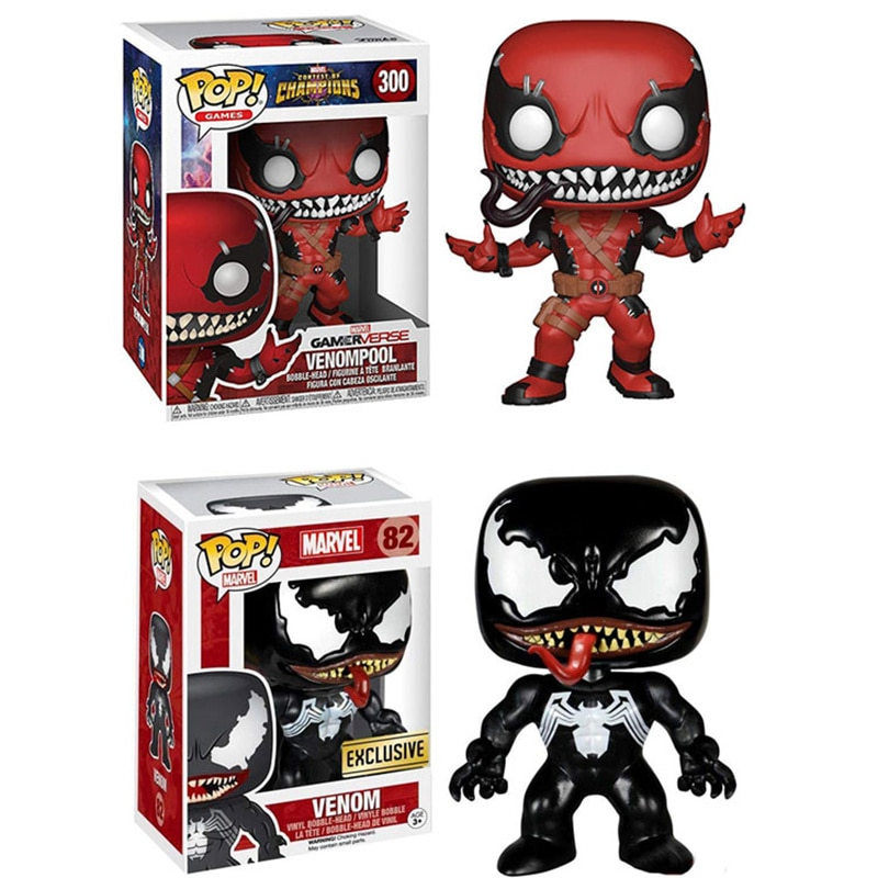 Figura de acción Funko pop the Marvel VENOM VS Venompool, juguete de modelos coleccionables para niños, regalo CON CAJA Original