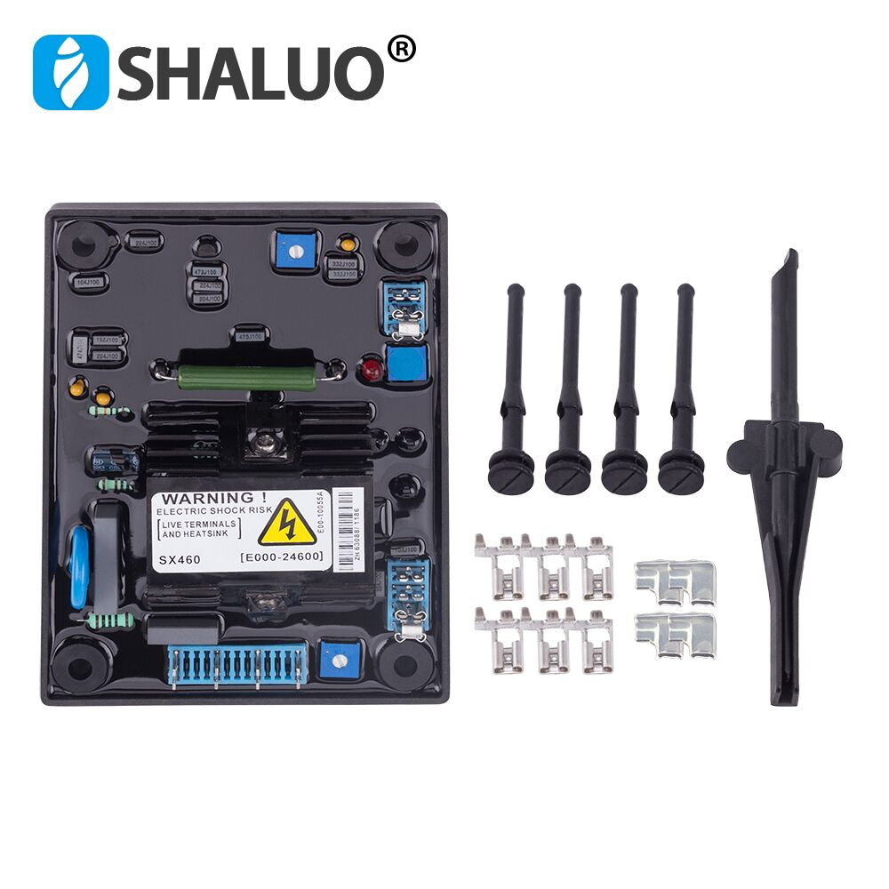 SX460 AVR Generator Automatic Voltage Regulator diesel alternator Part Single phase Power stabilizer a set AVR free gift