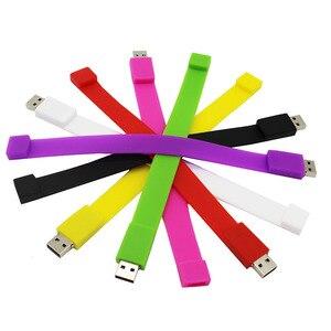 TEXT ME Cartoon wristband color  cute  USB Flash Drive 4GB 8GB 16GB 32GB 64GB Pendrive USB 2.0 Usb stick