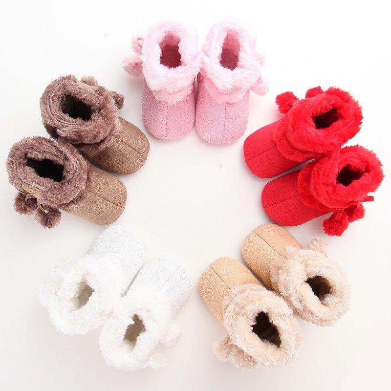 2017 الخريف الشتاء الوليد الطفل الرضيع طفل فتاة الثلوج سرير أحذية أطفال prewalker الجوارب