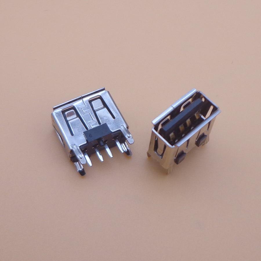 5-1000X laptop motherboard micro 2.0 USB 4pin 4 pin DC A Type Flat Angle 180 Degree Female PCB Connector Socket Jack Plug black