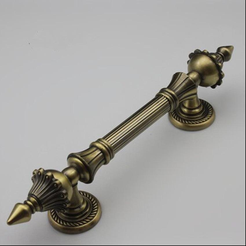 270mm bronze Ktv,Hotel Office Home wood door handle antique brass big gate pull rustico  vintage door handle