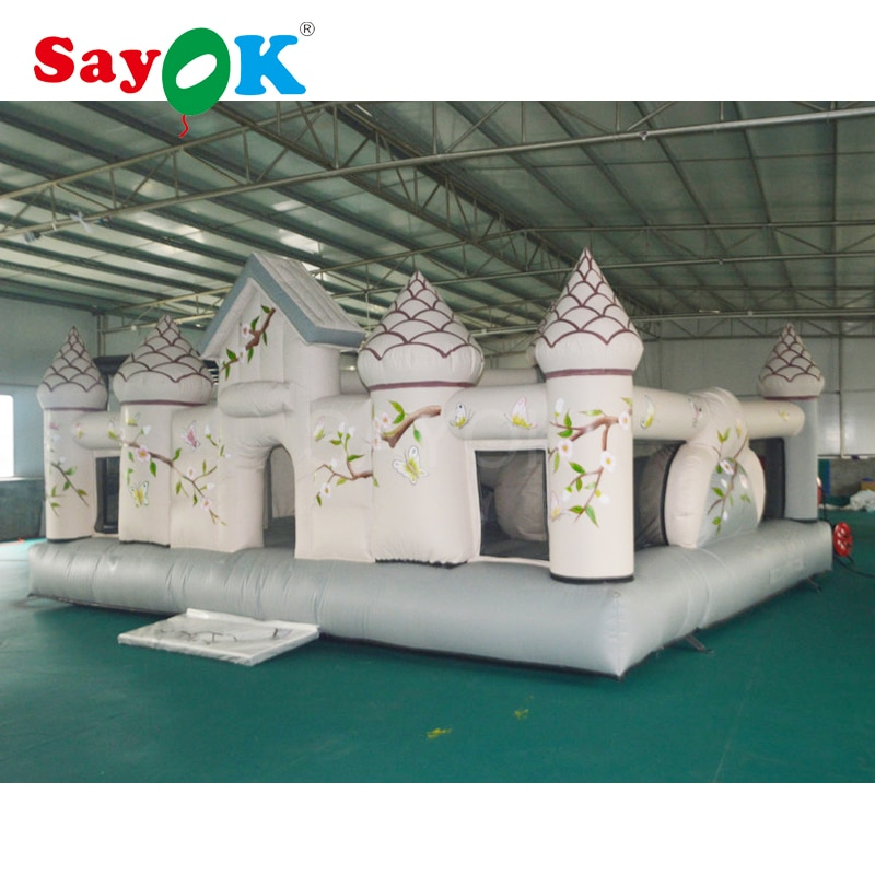 Castillo inflable de 6x5,1x3,3 m, trampolín inflable de gorila inflable con pista de obstáculos inflable para comercio/alquiler