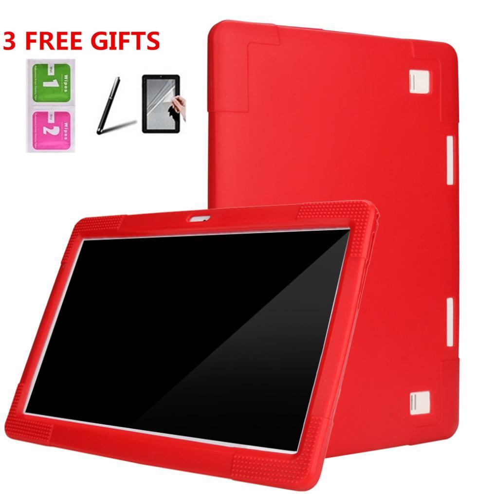 Universal Silikon Abdeckung Fall Für 10 10,1 Zoll Android Tablet PC + Bleistifte + Film 6J18 Drop Verschiffen