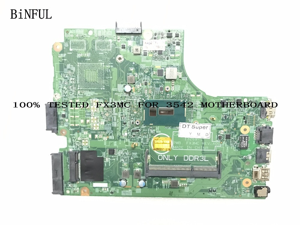 BiNFUL de placa madre para DELL INSPIRON 3542 placa base... I5-4210U 13269-1 FX3MC (calificado bien)