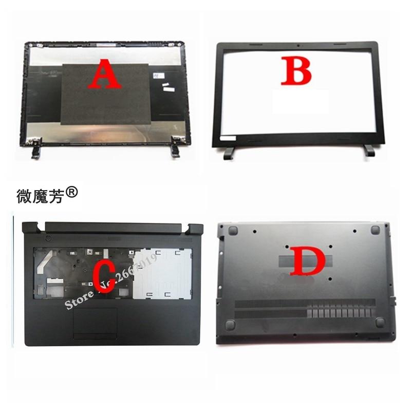 New Lcd Back Cover For Lenovo for ideapad 100-15 100-15IBY LCD screen bezel/Palmrest COVER Upper Case