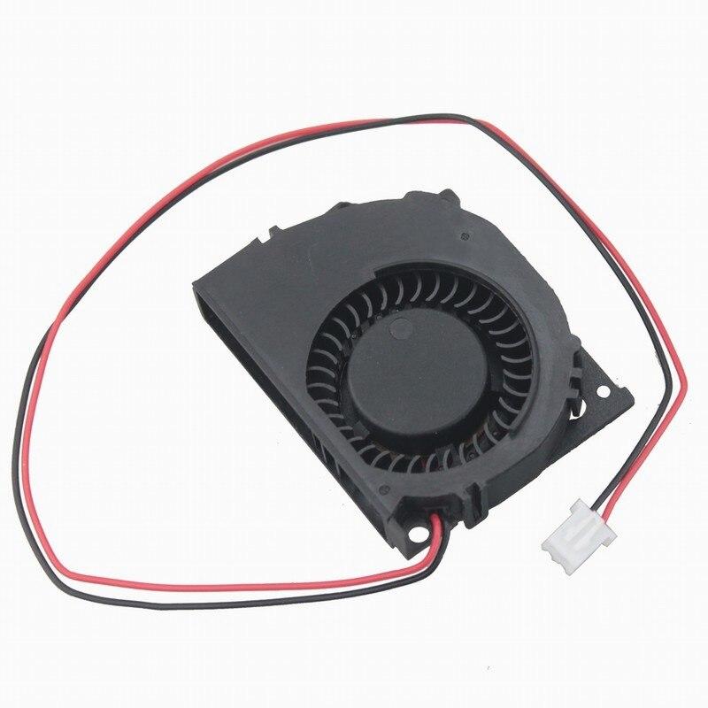 Gdstime 5 piezas 5010s DC 12 V 50mm x 40mm x 10mm turbina sin escobillas ventilador refrigerador 5cm 12 voltios 2 pines de dos cables
