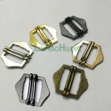 Boucle en alliage métallique 20mm 50 pièces/lot   double glissière, boucle ardillon réglable noir/bronze/mat, emaille, or/nickle, livraison gratuite