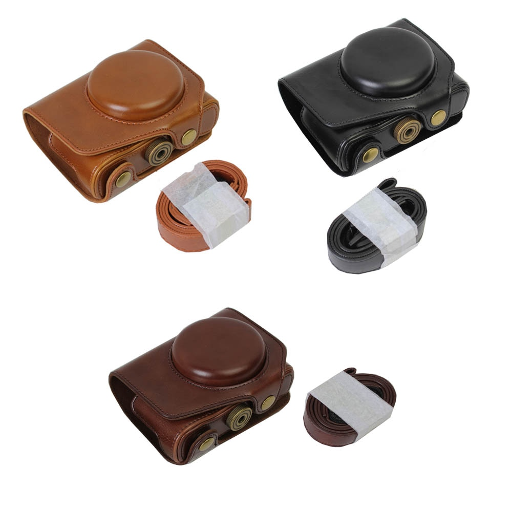 New PU Couro Camera Bag Case Capa Para Panasonic LUMIX LX10 LX10 DMC-LX10 caso Câmera de vídeo