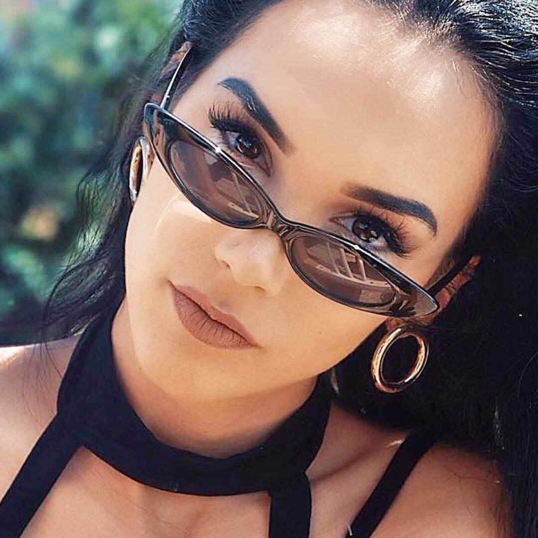 Longo Pequena Lente Olho de Gato Óculos De Sol Das Mulheres 2018 de Design Da Marca de Luxo Vermelho Óculos de Sol Sombra para As Mulheres 2018 Trending Produtos