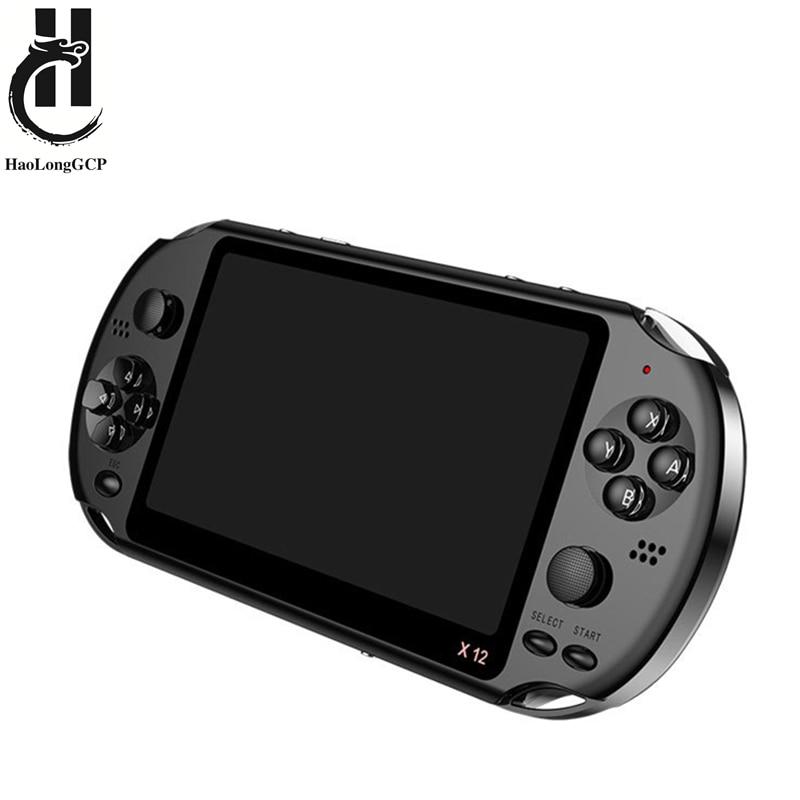 La plus nouvelle Console de jeu portative tenue dans la main de 5.1 pouces double Joystick 8GB a préchargé 1000 jeux gratuits soutiennent la machine de jeu vidéo de TV