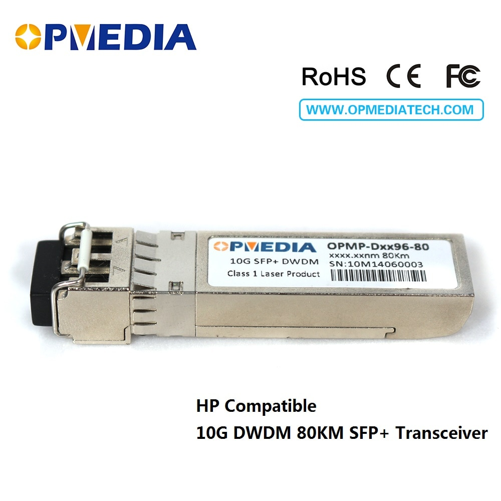 HP Compatible 10GBASE-DWDM ZR SFP+ transceiver,10G 80KM C-BAND 1563.86nm~1528.77nm SFP+ optical module