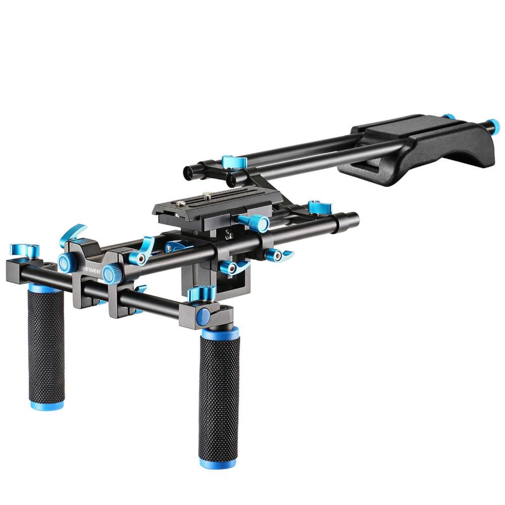 Neewer Camera Movie Video Making Rig Set System Kit for Canon/Nikon/Sony/Other DSLR DV:Shoulder Mount+15mm Rail Rod System+Rail
