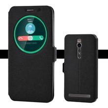 Coque Flip pour Asus Zenfone 2 ZE551ML étui réponse rapide fenêtre étuis en cuir pour Zenfone2 ZE550ML Z00ADB Z008D coque de téléphone
