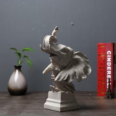 El elefante animal León hogar traje suave restaurar maneras antiguas cabeza de Lobo estudio TV modelo escritorio escultura artesanía estatua hogar