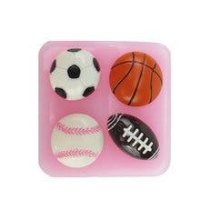 Luyou-moule à chocolat Silicone Football 3D   Football créatif basket-ball, moule à gâteau décor en Silicone, moule à Fondant, outils de Fondant FM010