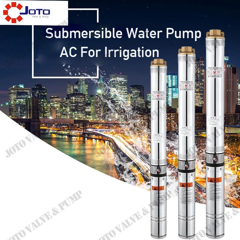 1500w 3m 3/h 120m uso doméstico, bomba de agua de pozo profundo sumergible de acero inoxidable
