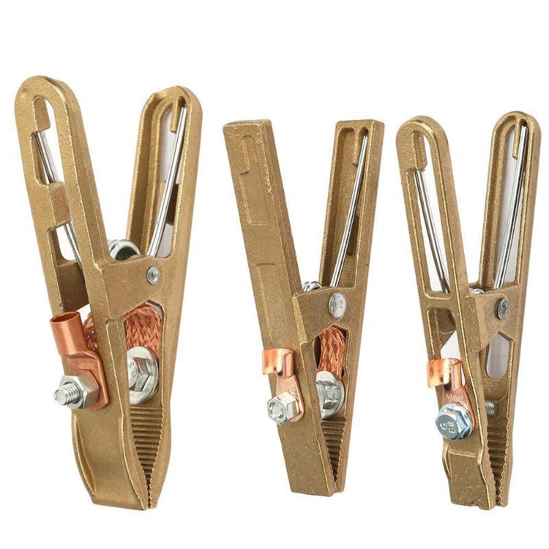 Clip de Cable de tierra de cobre, abrazadera de soporte de electrodo de soldador Manual de soldadura, Clip de Cable de tierra para soldadura, abrazaderas de soldador