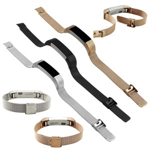 New Arrived High Quality Gold Black Milanese Stainless Steel Watch Band Strap Bracelet For Fitbit Alta Tracker Accessories Case