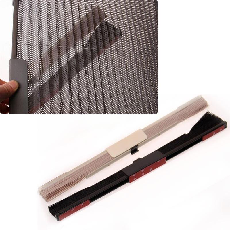 1Pc Summer Car Window Sunshade Curtain Automatic Shrink Solar Protection Wrinkled Mesh 60x46cm Cars Curtains Visor Shield