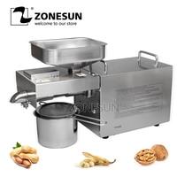 ZONESUN Seed Nut Oil Press Machine Oil Extraction Expeller Presser Stainless Steel 110V or 220V