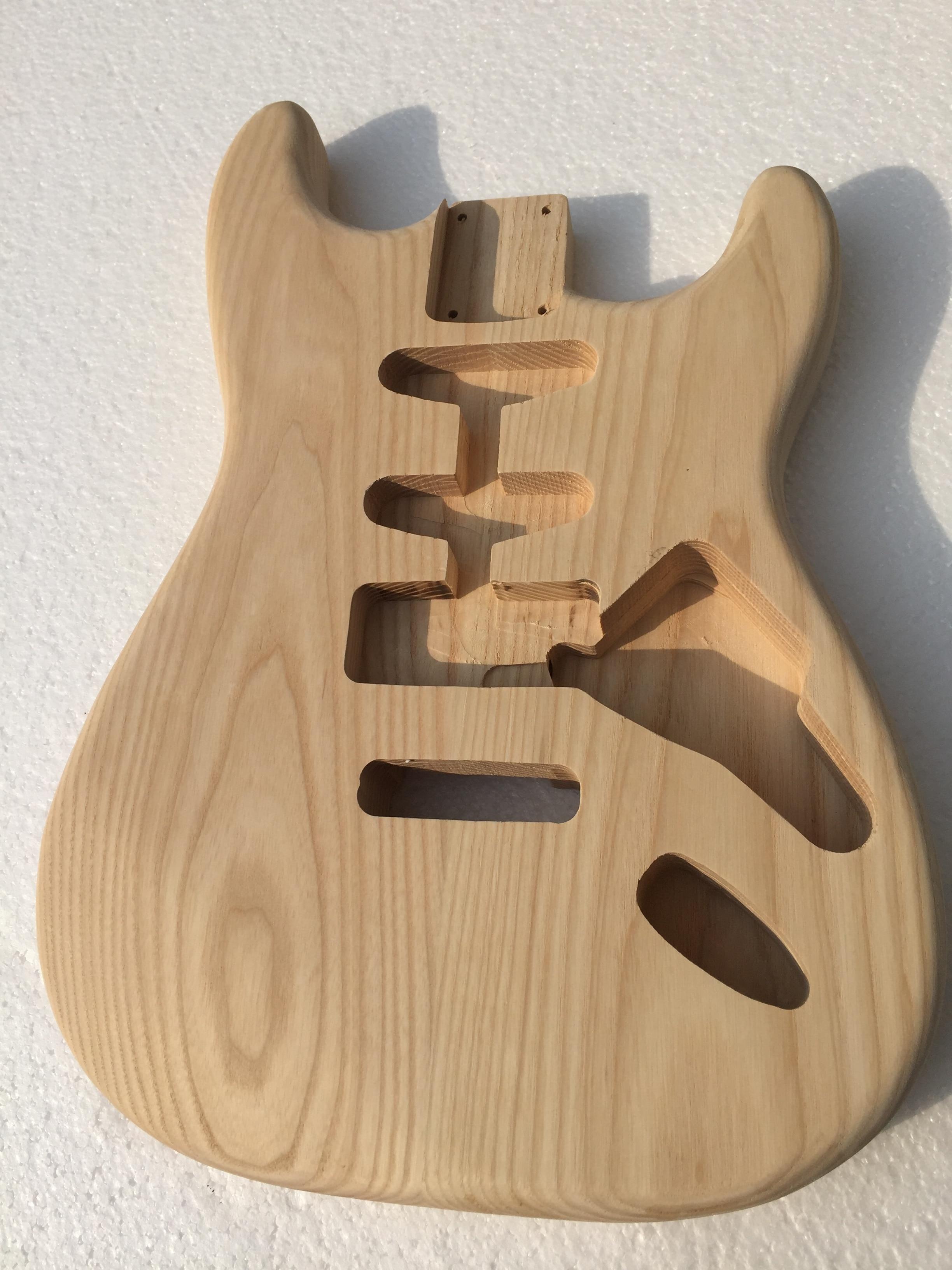Guitarra Eléctrica con diseño de puesta de sol, dispositivo de semi-acabado, color...