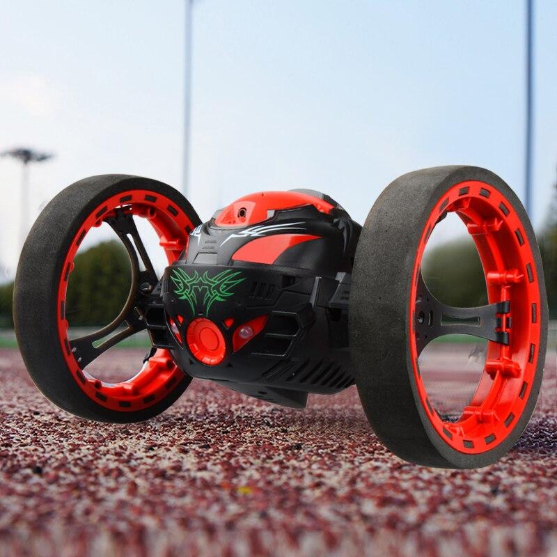 Mejora fuerte salto Sumo juguete conectado Mini RC coche 2,4 GHz rebote coche con ruedas flexibles Control remoto coche Gigt