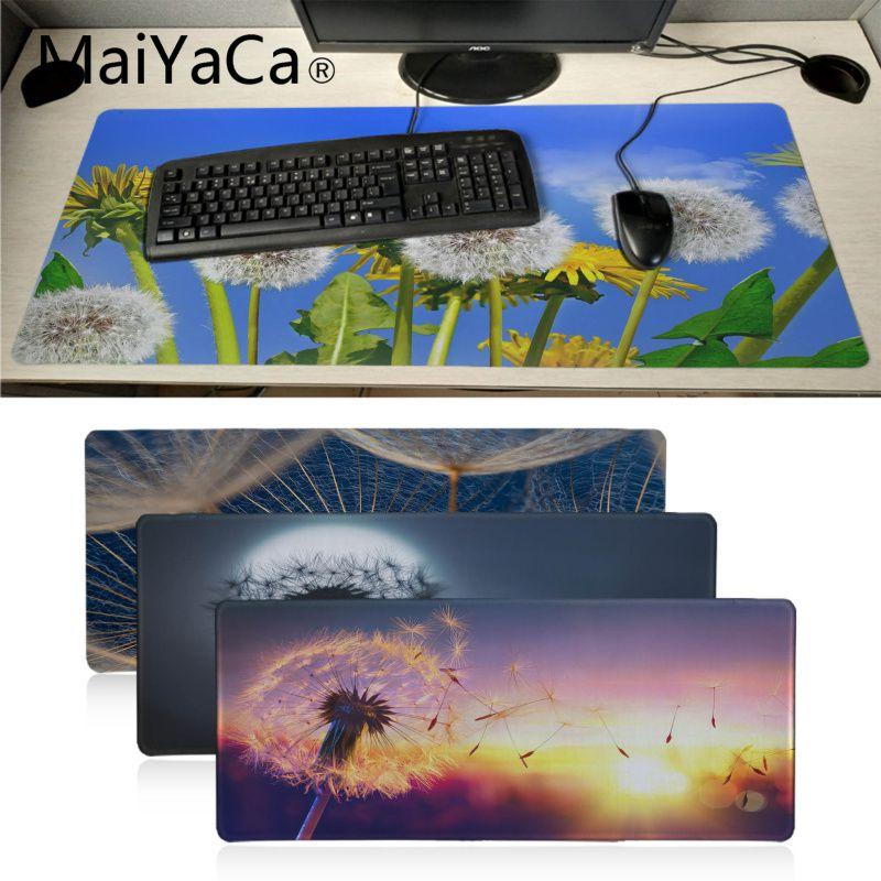 Maiyaca sunrises dandelions borracha natural gaming mousepad tapete de mesa teclado novo chegou alta qualidade luxo mousepad anime