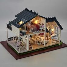 A032 3D en bois grande maison de poupée Miniatura Miniature en bois bâtiment modèle meubles modèle villa PROVENCE 112