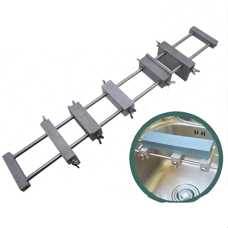 Kitchen Whetstone Non-slip sink base Metal sharpening anti-skid holder stainless steel+Aluminum alloy
