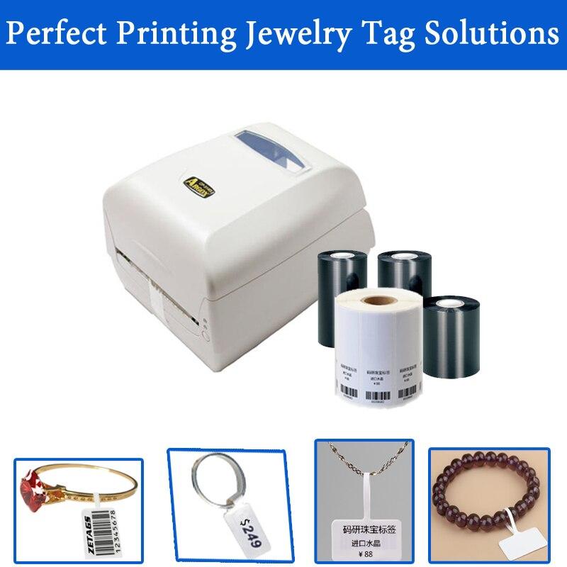 Solución de impresión de chapa de joyería etiqueta código de barras Paquete de impresora con plantillas de impresión