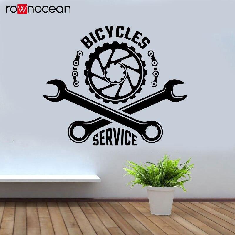 Autocollant Mural pour fenêtre de vélo   Autocollant Freestyle, Dirt Bike Sport, outil de réparation pour moto, décoration intérieure de la maison, autocollant Mural pour fenêtre 3393