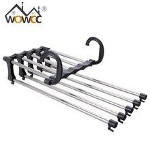 WOWCC cintres de placard pliables   Multifonction en acier inoxydable, magie verticale horizontale suspendue ceinture de cravate vêtements espace