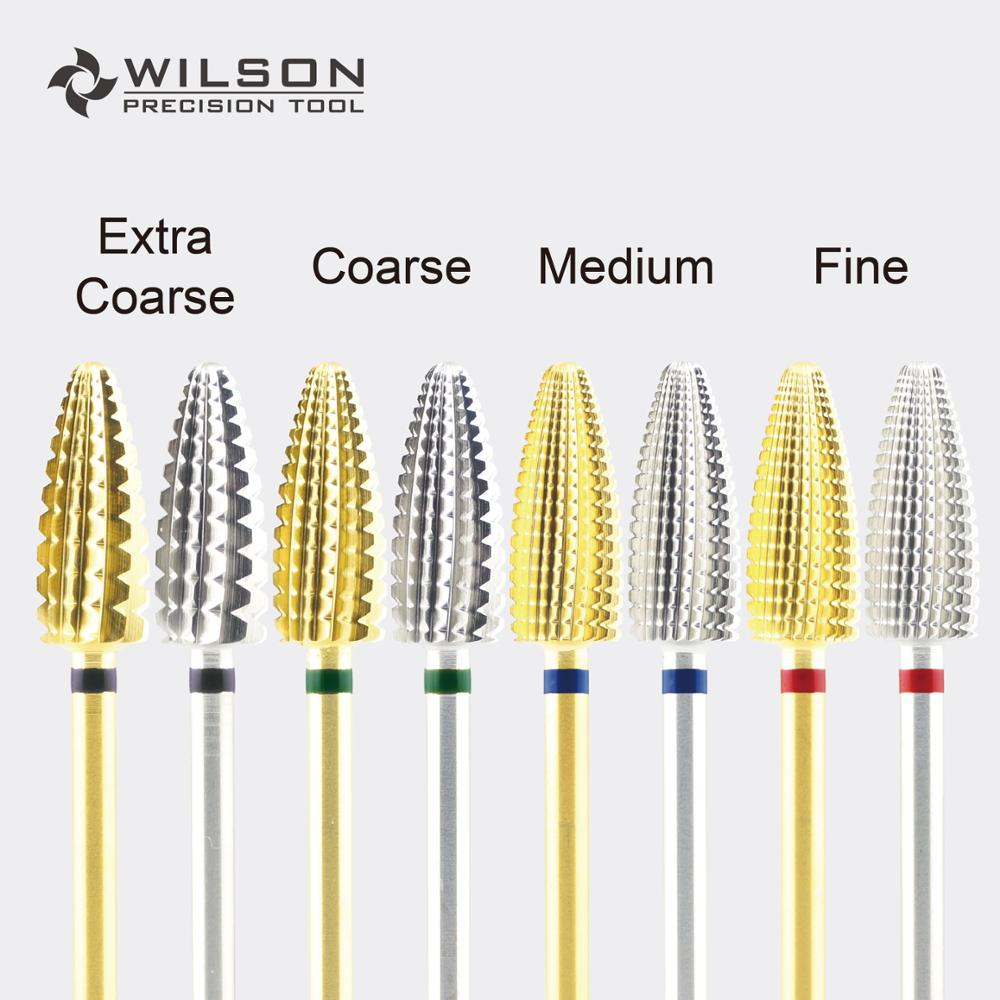 AliExpress - Typhoon Bit(Fastest Remove Acrylics&Gels)[Gold/Silver]-One directional(for Right Hand use only)-WILSON Carbide Nail Drill Bit