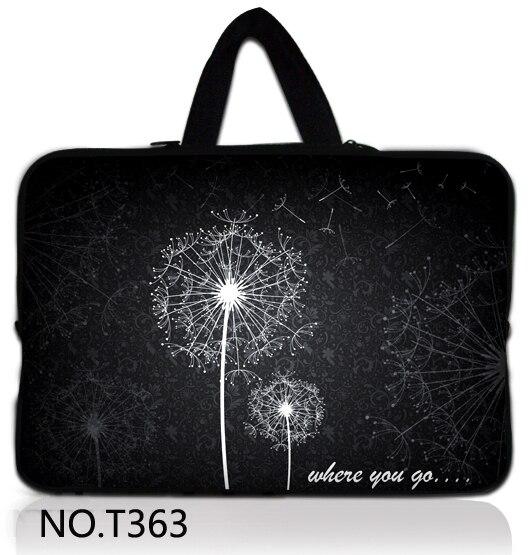 "Cinza dandelion 17 polegada laptop bag sleeve case capa para 17.3 ""dell toshiba satellite hp/samsung/sony/asus/acer"